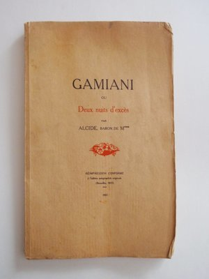Ltd Ed 1931 Gamiani French Erotica Book Two Nights of Excess 9 Erotic Gravure 189 of 350 Clandestine Printing