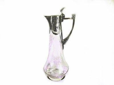 Jugendstil 1900 WMF Silver Aesthetic Claret Jug Wine Decanter Ladies Face