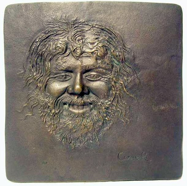 1970s J. Walter Thompson Satyr II Bronze Plaque Thomas Cornell Limited Edition 135 / 355