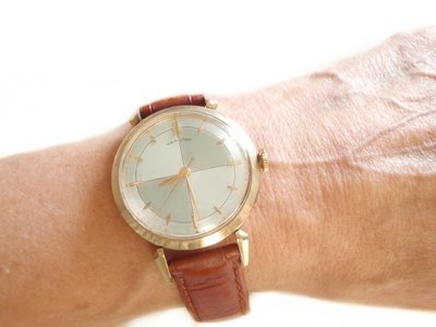 1970s Hamilton MCM Pie Pan Dial Two Tone Watch