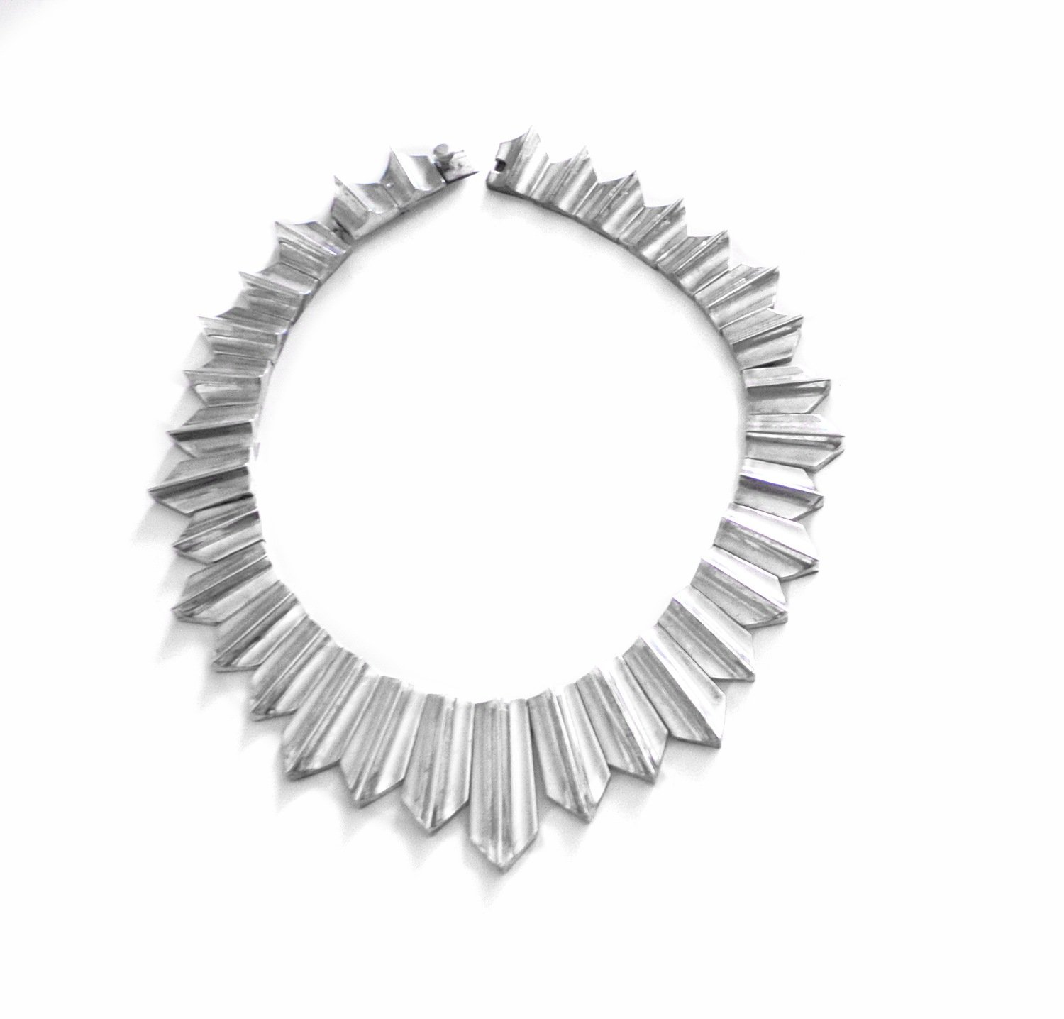 Antonio Pineda Zig Zag Necklace MCM Taxco Mexican 970 Silver