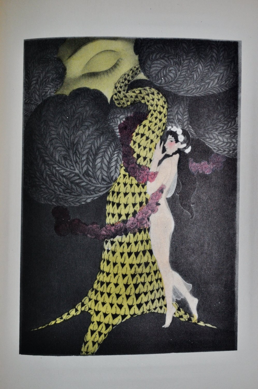 1928 Pierre Louys Songs of Bilitis Erotic Art By Franz Felix Sappho Lesbian Poetry Art Deco Illustrations