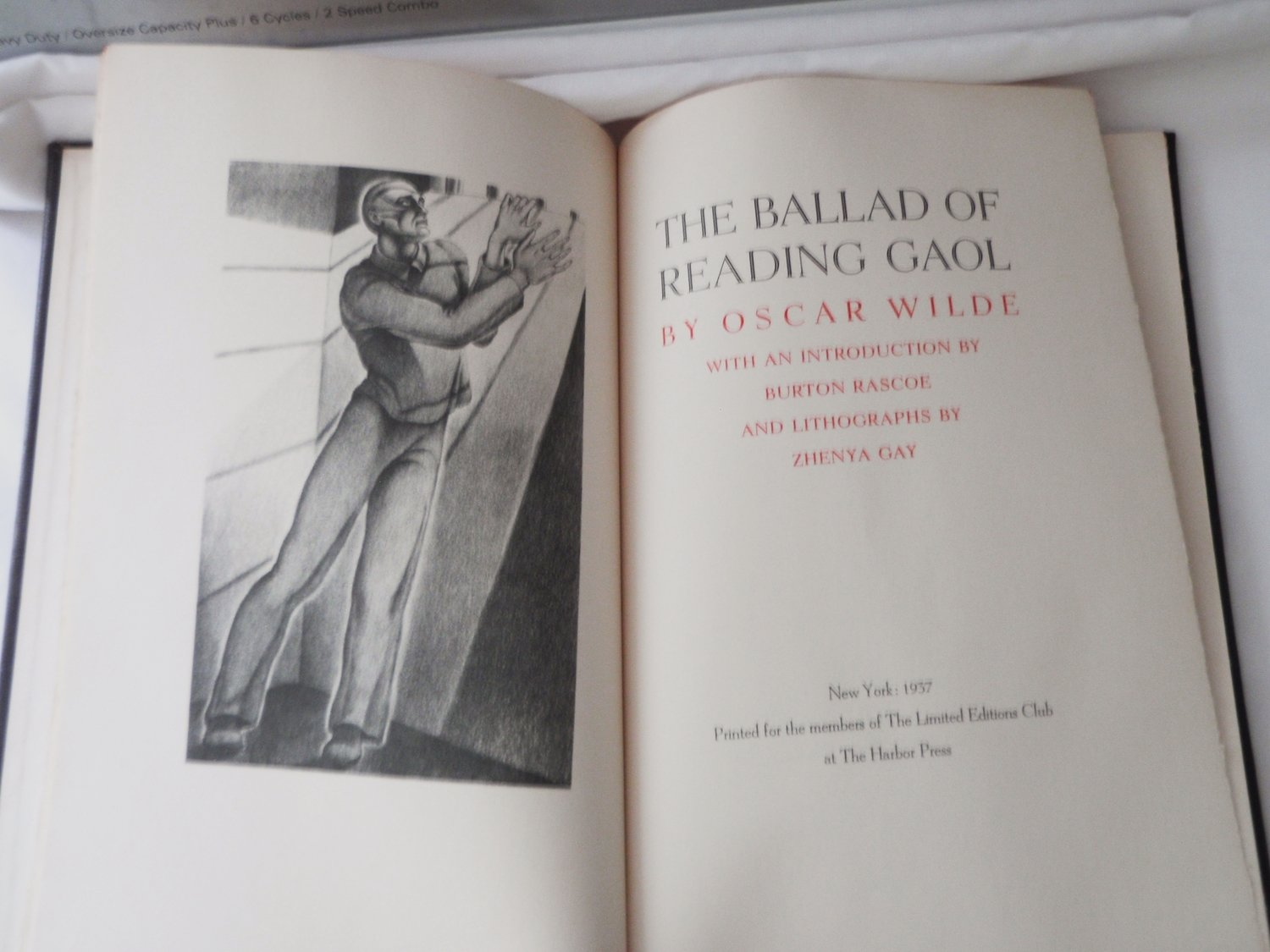 1937 Oscar Wilde The Ballad of Reading Gaol Ltd Ed 1500 - Zhenya Gay Artist Signed