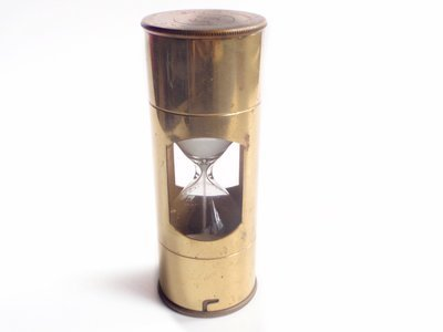 Mid Century Hourglass Brass 3 Minute Sand Timer MCM Dutch Marine Nautical Timer