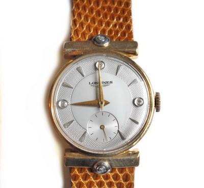 1951 Longines Solid 14k Gold Diamond Dial Lugs Rare Watch