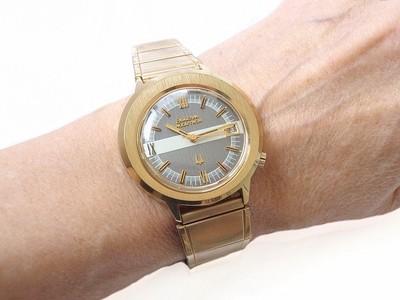 Bulova Accutron Two-Tone Asymmetrical MCM Mens Watch