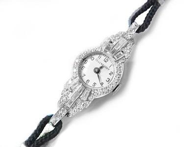 Ladies Art Deco Platinum 1.25 ct Diamonds Ollendorff Watch