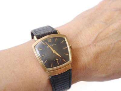 Mid Century Bulova American Eagle Watch, Asymmetric Case