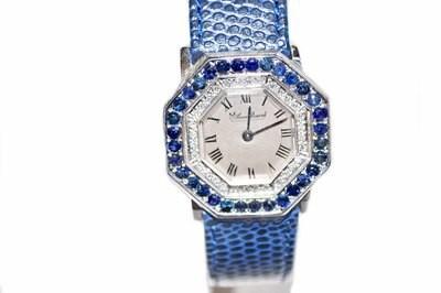 Lucien Piccard Wristwatch 14k Sapphire Diamond Ladies Watch