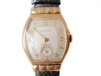 1940s Benrus Dress Watch with Fancy Hidden Lugs
