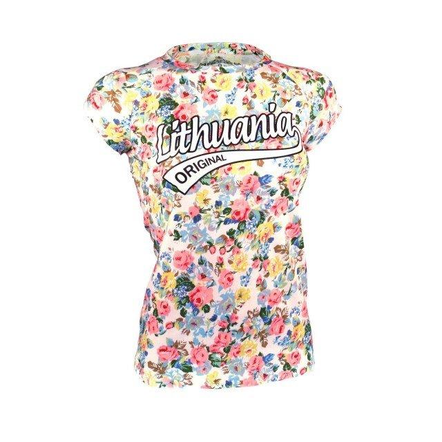 Flowered white ladies t-shirts Lithuania Original