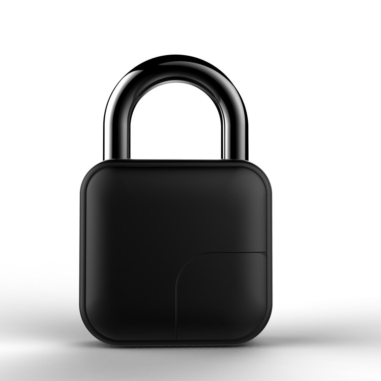 Biometric Smart Padlock Fingerprint Keyless Unlock IP65 Waterproof New Generation (Black)