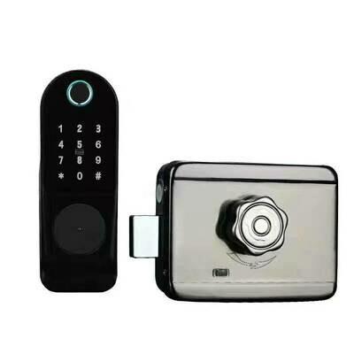 Touchscreen Fingerprint Keyless Rim Lock