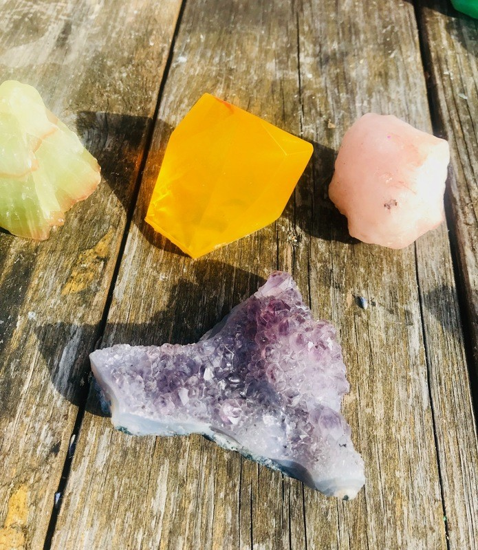 Handmade Gemstone Soap~Sweet Orange & Lemon