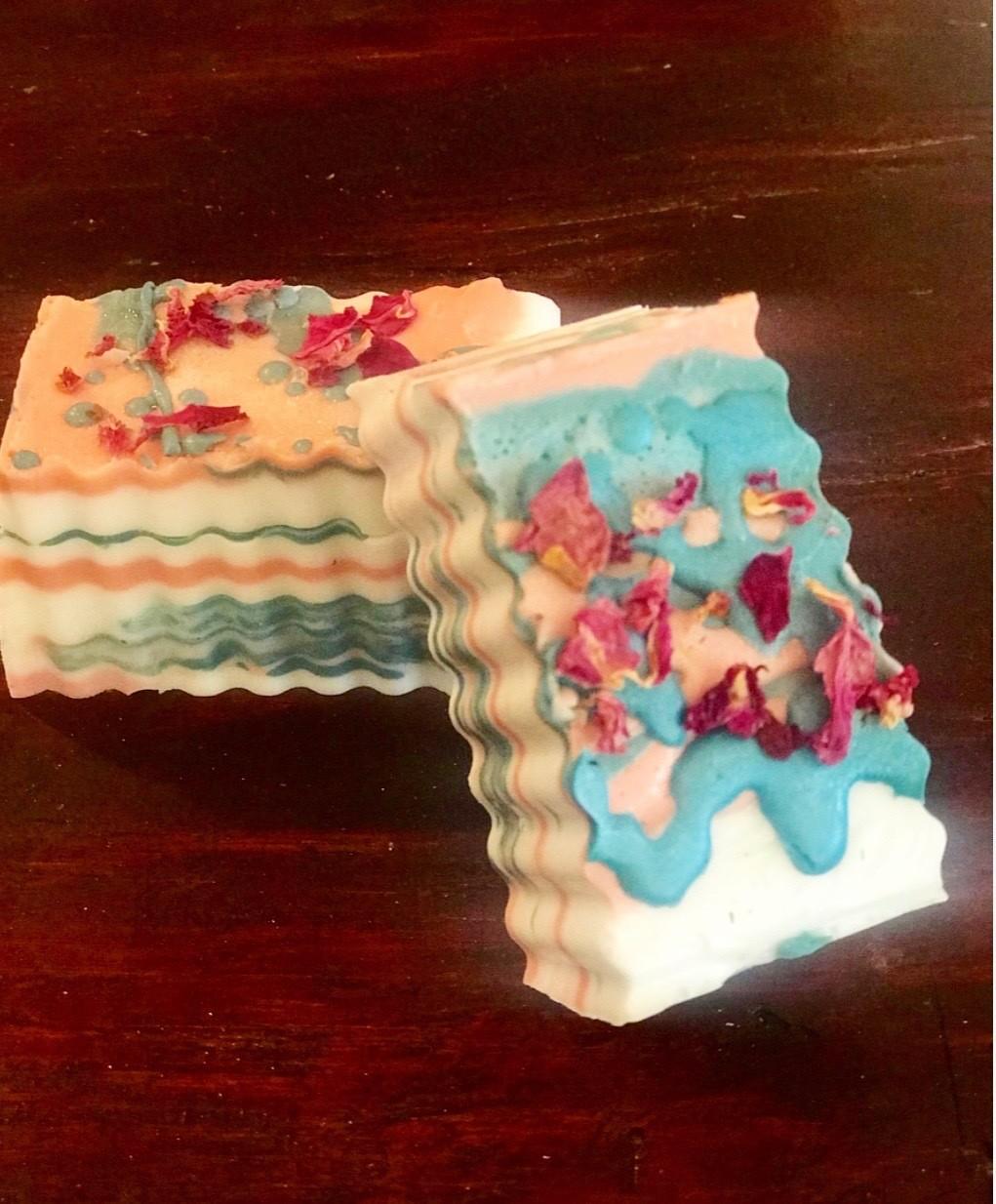 Handmade Luxury Coconut Rose Soap