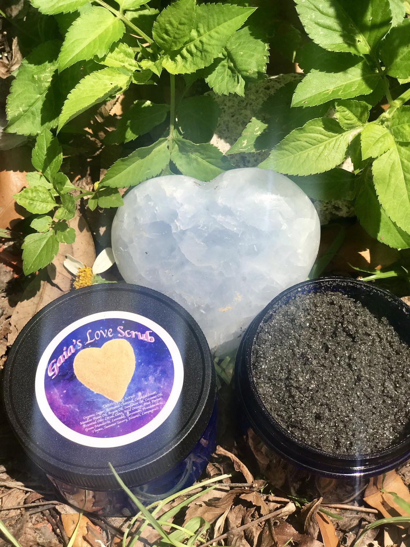 Gaia's Charcoal Sugar Scrub