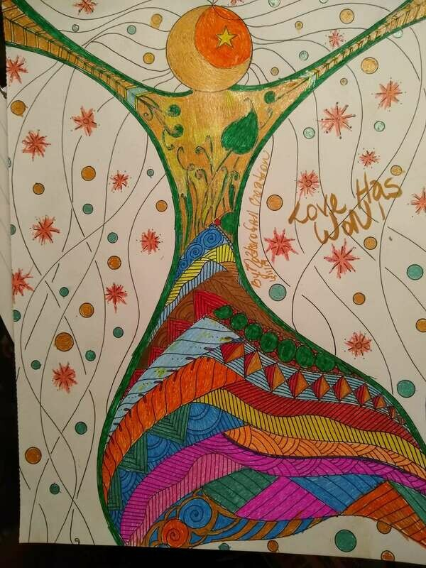 Mother of All Creation Artwork ~ Quilted Cosmic embrace