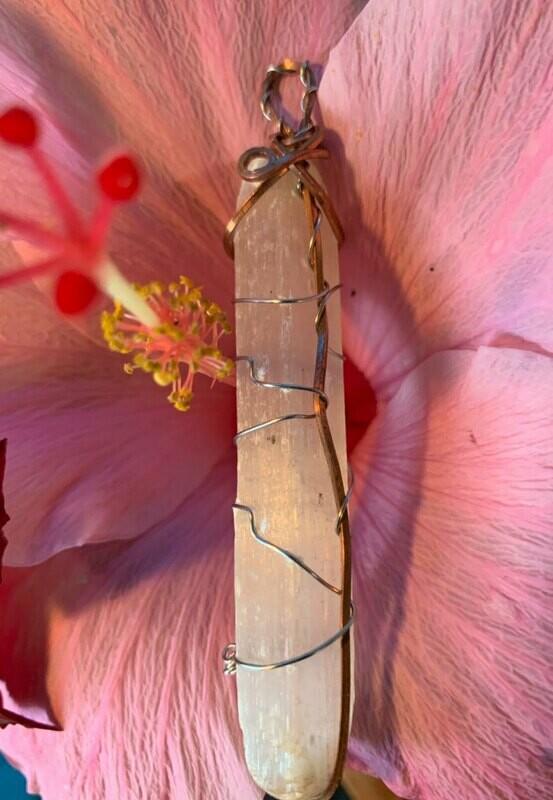 Selenite Handwrapped Ceremonial Crystal