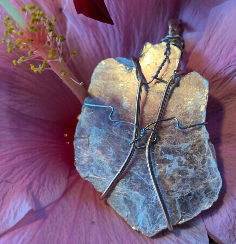 Lepidolite Handwrapped Ceremonial Crystal