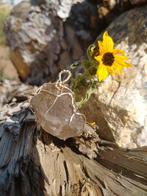 Smokey Quartz Hand Wrapped Ceremonial Crystal
