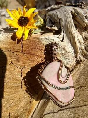 Rhodochrosite Hand Wrapped Ceremonial Crystal