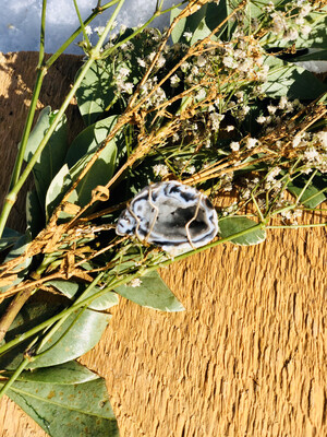 Ceremonial Agate & Druzy Quartz Crystal