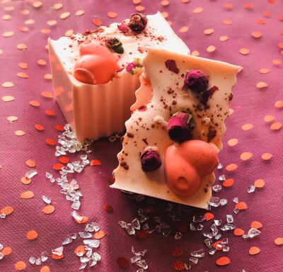 Valentines Day Chocolate Cherry Soap