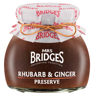 Mrs Bridges Rhubarb and Ginger Preserve 340g