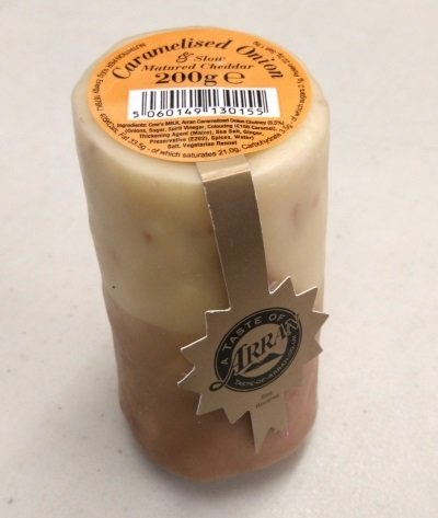 Arran Cheddar Cheese with Caramelised Onion 200g