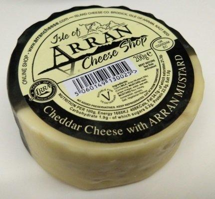 Arran Cheddar Cheese with Arran Mustard 200g CheeseMustard