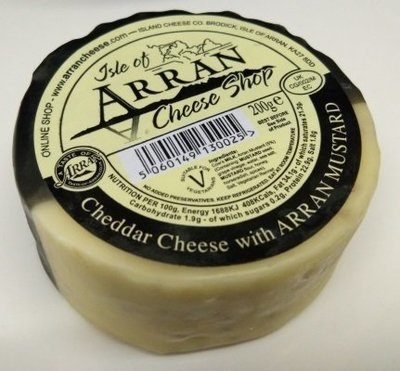Arran Cheddar Cheese with Arran Mustard 200g