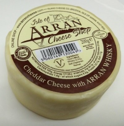 Arran Cheddar Cheese with Arran Whisky 200g CheeseWhisky