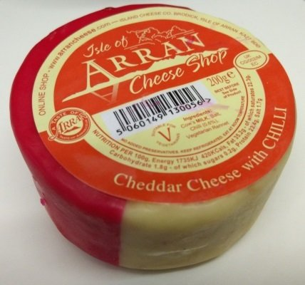Arran Cheddar Cheese with Chilli 200g CheeseChilli