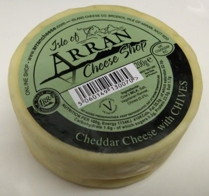 Arran Cheddar Cheese with Chives 200g CheeseChives