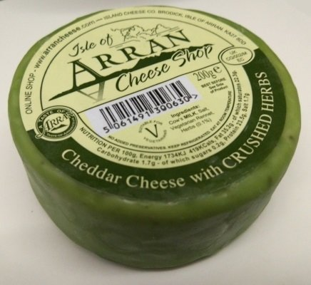Arran Cheddar Cheese with Crushed Herbs 200g CheeseHerbs