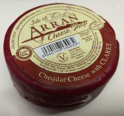 Arran Cheddar Cheese with Claret 200g CheeseClaret