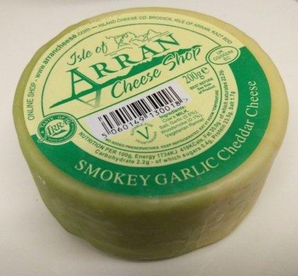 Arran Smokey Garlic Cheddar Cheese 200g CheeseSmokeyGarlic