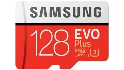 Samsung EVO Plus 128GB MicroSDXC + SD Adapter