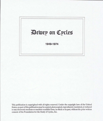 MAY 2016 FREEBIE - Dewey on Cycles 1949-1974 (PDF Download)
