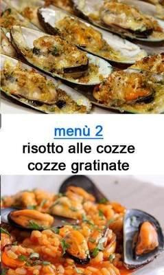 menu 2 tutto cozze
