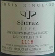 1998 Ringland Vintners Barossa Shiraz 00004