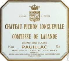 2006 Pichon Longueville Comtesse de Lalande DZHGSMR83GG6J