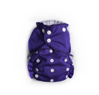 Easy Peasies® One Size Reusable Cloth Pocket Diaper - Grape