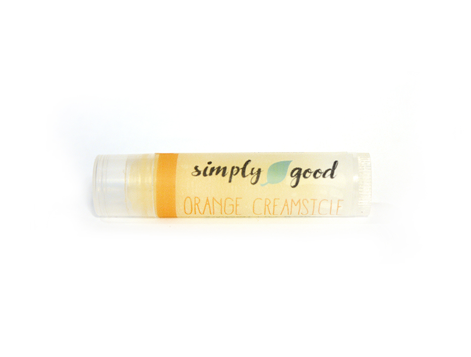 Simply Good™ Orange Creamsicle Orange & Vanilla Flavoured Lip Balm 00714