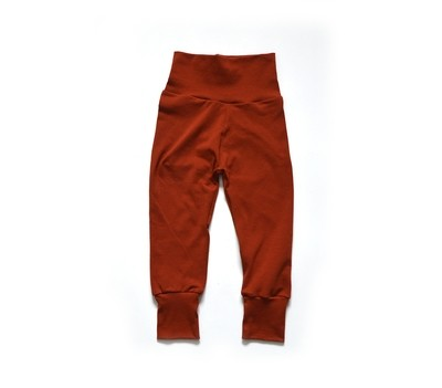 Little Sprout Pants™ in Rust | Grow With Me Leggings - Preorder