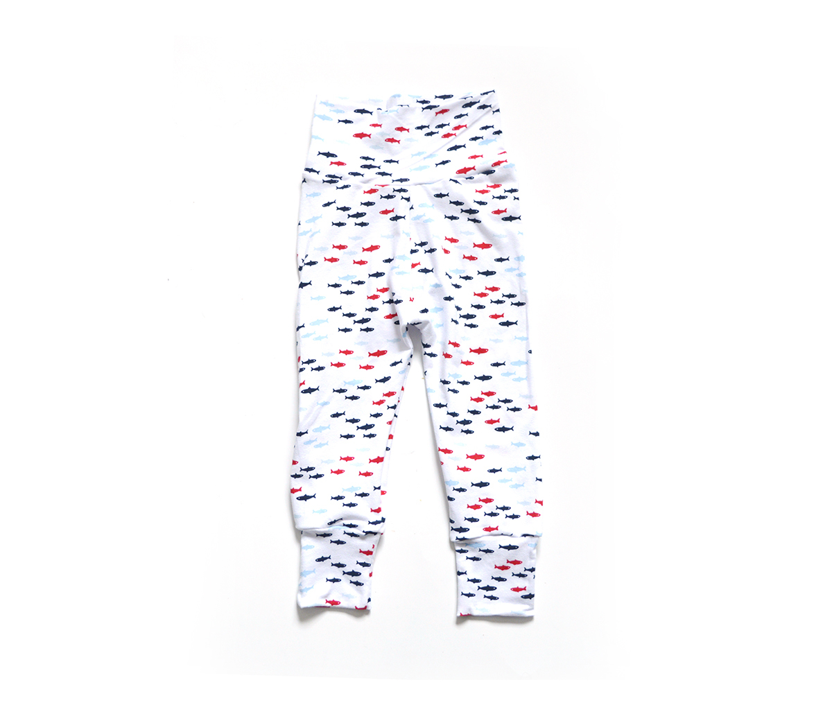 Little Sprout Pants™ Gone Fishing White 00790