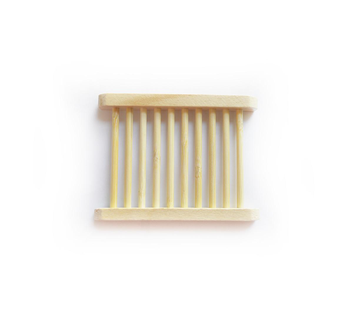 Simply Good™ Wood self-draining soap dish - holder for handmade soap