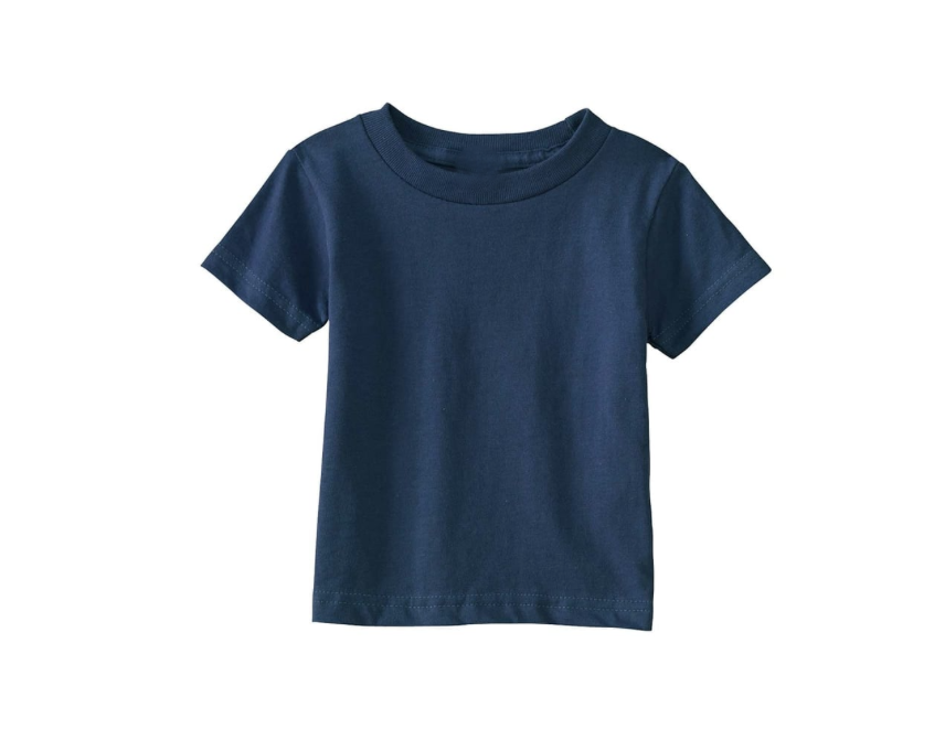 Navy Crew Neck T Shirt 100% Cotton 00813