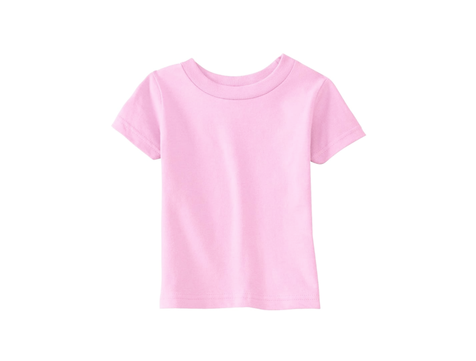 Pink Crew Neck T Shirt 100% Cotton 00823