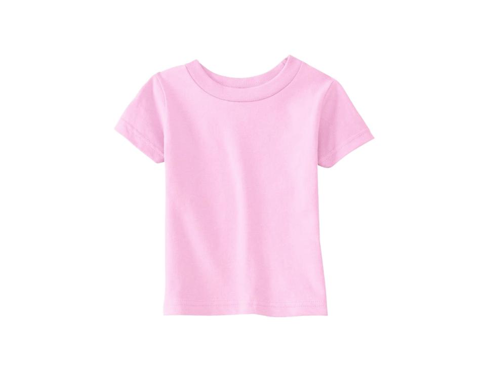 Pink Crew Neck T Shirt 100% Cotton 00823
